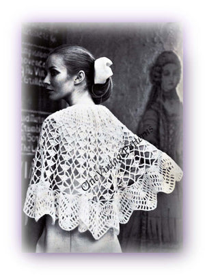 Ladies Lacy Poncho Crochet Pattern, Instant Download
