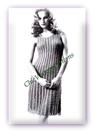 Crochet Dress Pattern, Ladies Summer Dress, Digital Download