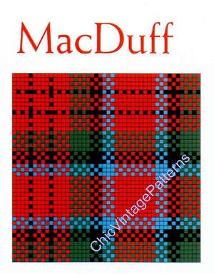 Tartan Afghan Crochet Pattern, Instant Download, Easy-To- Make Plaid Rug