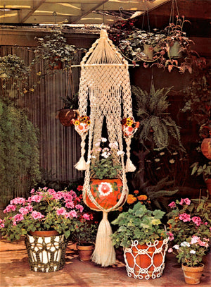"Vintage ""Macrame Magic"" Pattern Book, PDF Book, Instant Download"