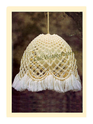 Macrame Lamp, Macrame Lightshade Pattern, Instant Download