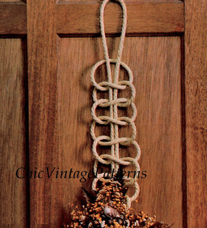 Easy-to-Make Macrame Wall or Door Decoration, Instant Download