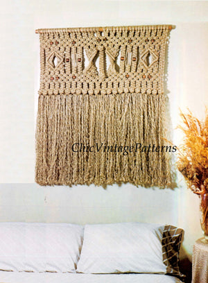 Macrame Wall Hanging Pattern, Wall Art, Instant Download