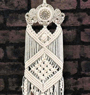 Macrame Windchimes Pattern, Retro Ceramic Windchimes, Digital Download