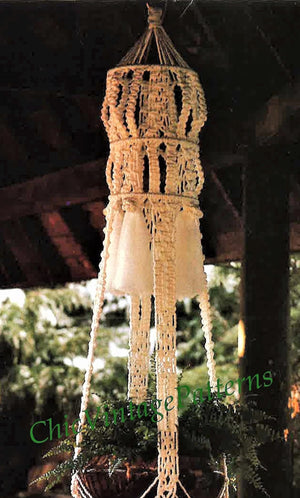 Macrame Plant Hanger Pattern, Garden Decor, Digital Download