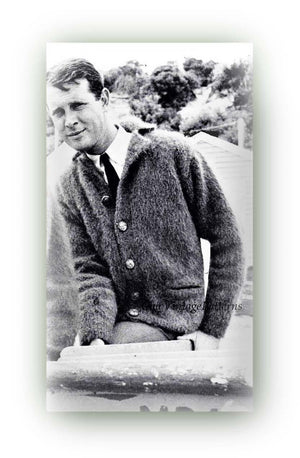Knitted Men's Cardigan Pattern, Vintage Mohair Cardigan, Instant Download