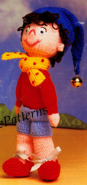 Noddy and Big Ears Knitting Pattern, Soft Toy, Instant Download