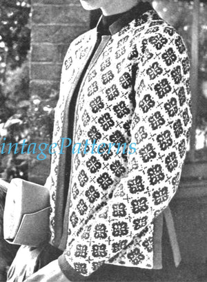 Knitted Ladies Jacket Pattern, Ladies Cardigan, Instant Download