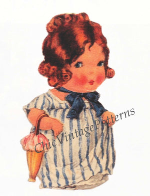 "1920's Paper Dolls, Little 'Kewpie-like"" Dolls, Instant Download"