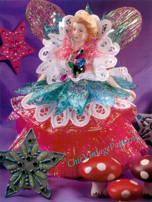 Paper Fairy Pattern, Christmas Decoration, Instant Download