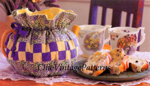Patchwork Tea Cosy Sewing Pattern, Digital Download