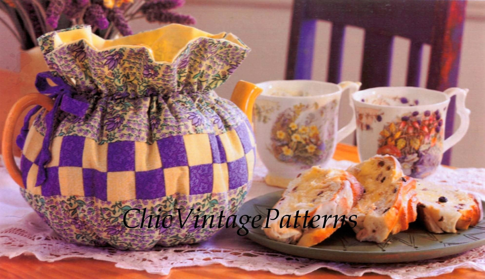 Patchwork Tea Cosy Sewing Pattern, Instant Download