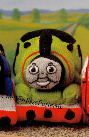 Percy Toy Knitting Pattern, Percy Soft Toy, Instant Download