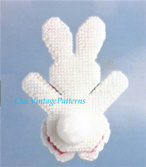 Plastic Canvas Easter Bunny Pattern, Instant Download