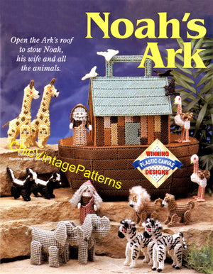 Plastic Canvas Noah's Ark Pattern, Instant Download