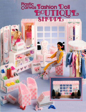 Plastic Canvas Fashion Doll Boutique Shoppe Pattern, Instant Download