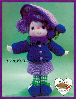 "Crochet Lollipop Lane Doll Pattern, ""Plum Preserves"", Instant Download"
