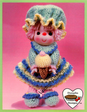 Crochet Lollipop Lane Doll Pattern, Sherbert Ice, Digital Pattern