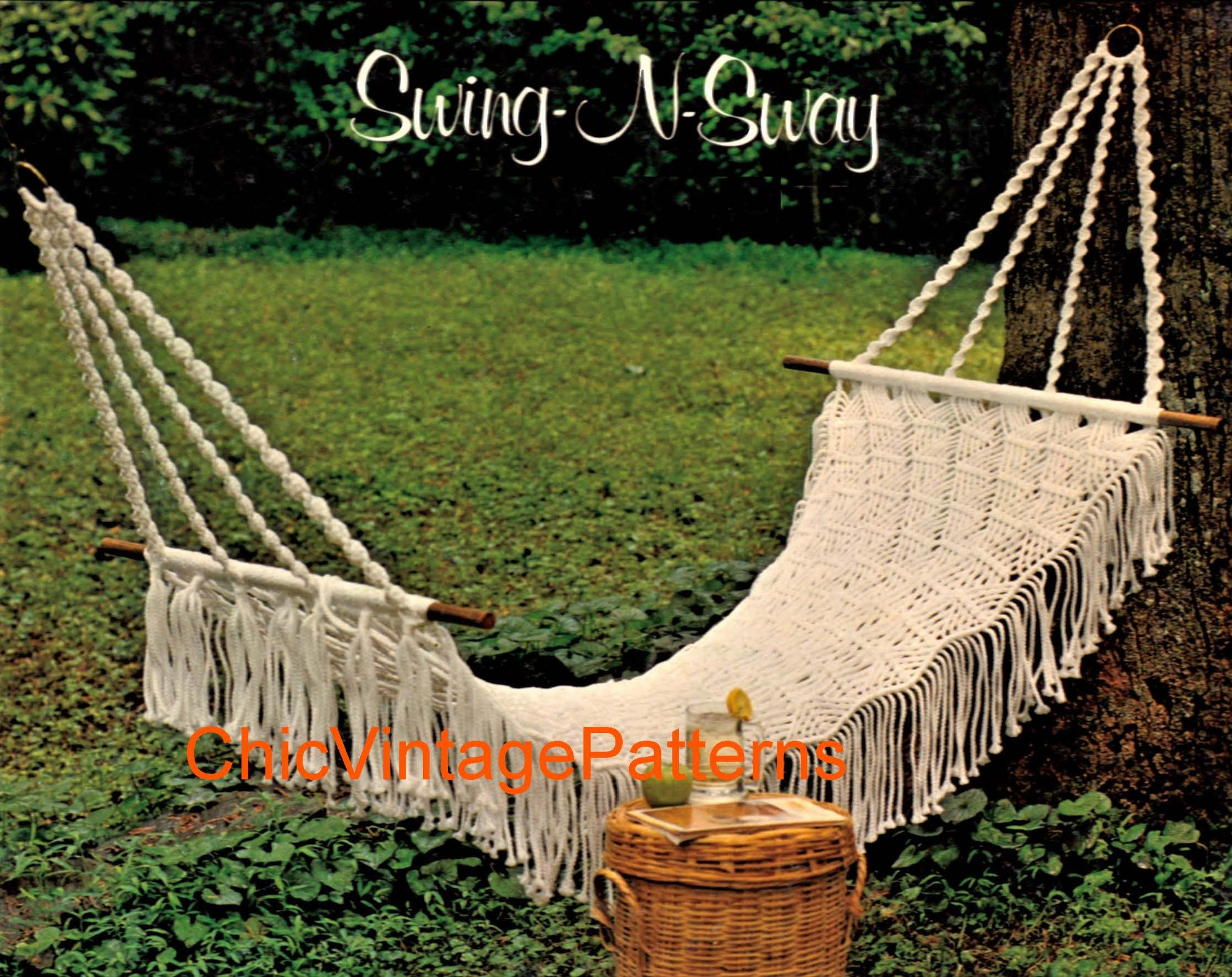 Casual Macrame Hammock Pattern, Home Decor, Instant Download