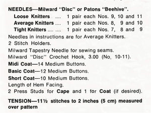 Children's Knitted Coat Pattern, Three Sizes, Instant Download
