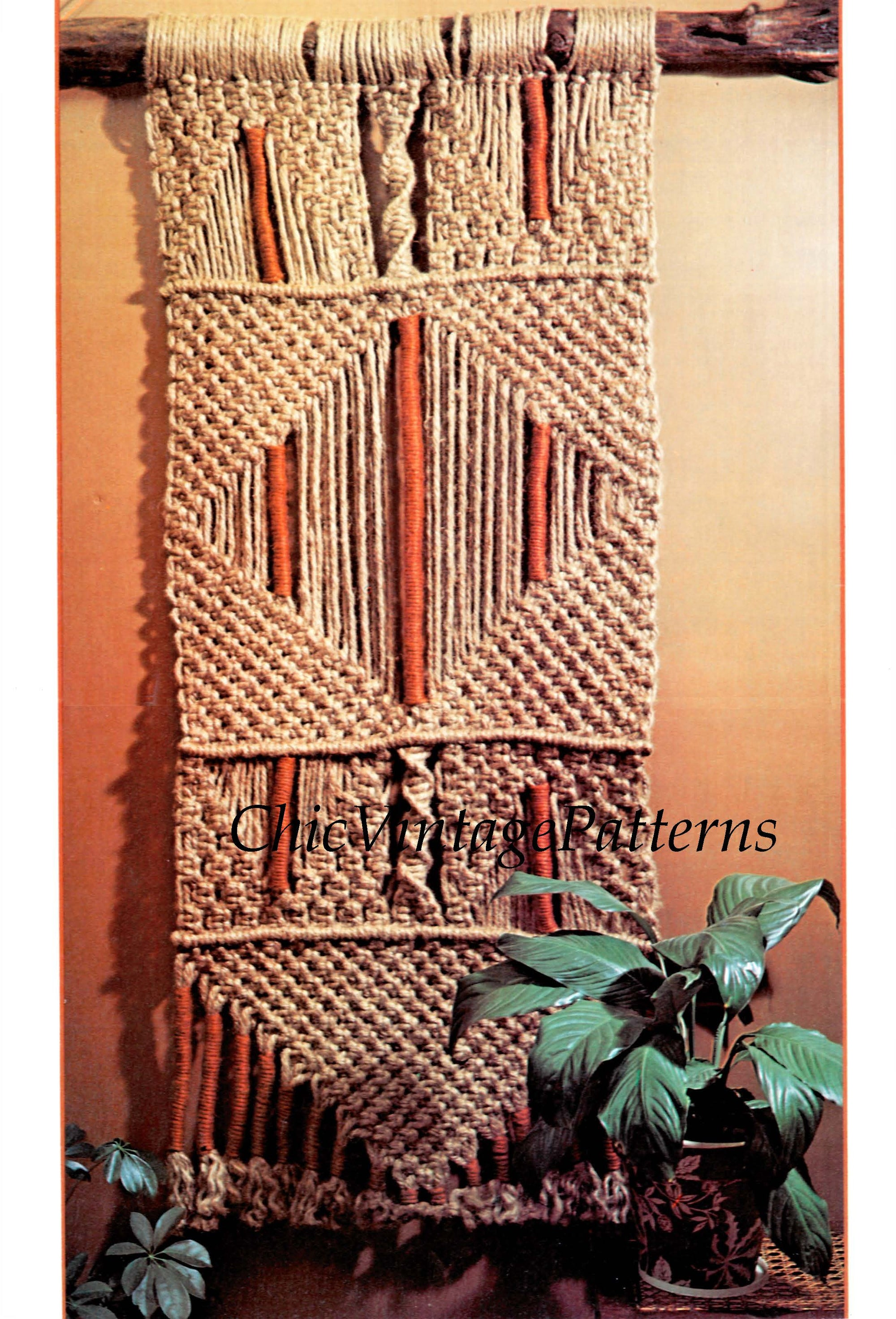 Macrame Wall Hanging Pattern, Rustic Wall Art, Instant Download