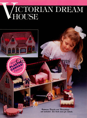 Plastic Canvas Doll's House Pattern, Instant Download