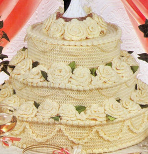 Crochet Wedding Cake Pattern,  Anniversary Cake, Instant Download