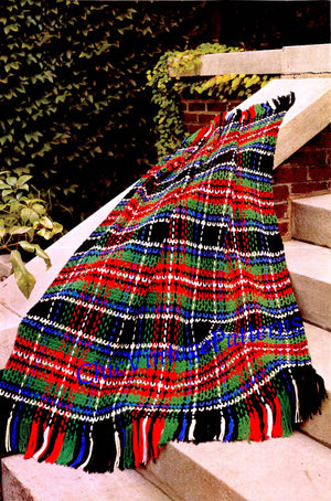 Crochet Plaid Afghan Pattern, Tartan Rug, Digital Crochet Pattern