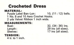 Crochet Dress Pattern, Ladies Summer Party, Resort, Dinner Dress, Instant Download