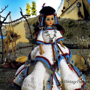 Dolls Dress Pattern, Indian Princess Gown, 15 inch Doll, Instant Download