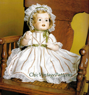 Baby Doll Clothes Sewing Pattern, 41cms / 16 inch Doll, Instant Download