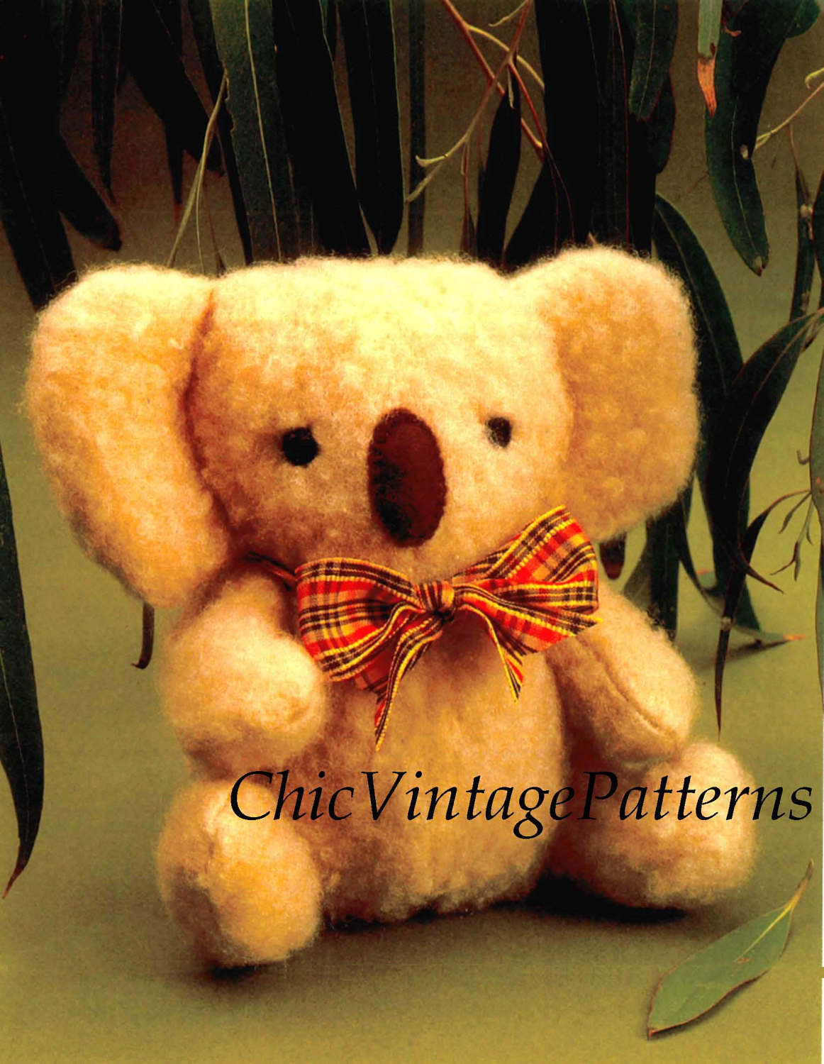 Koala Toy Sewing Pattern, Vintage Soft Toy, Instant Download