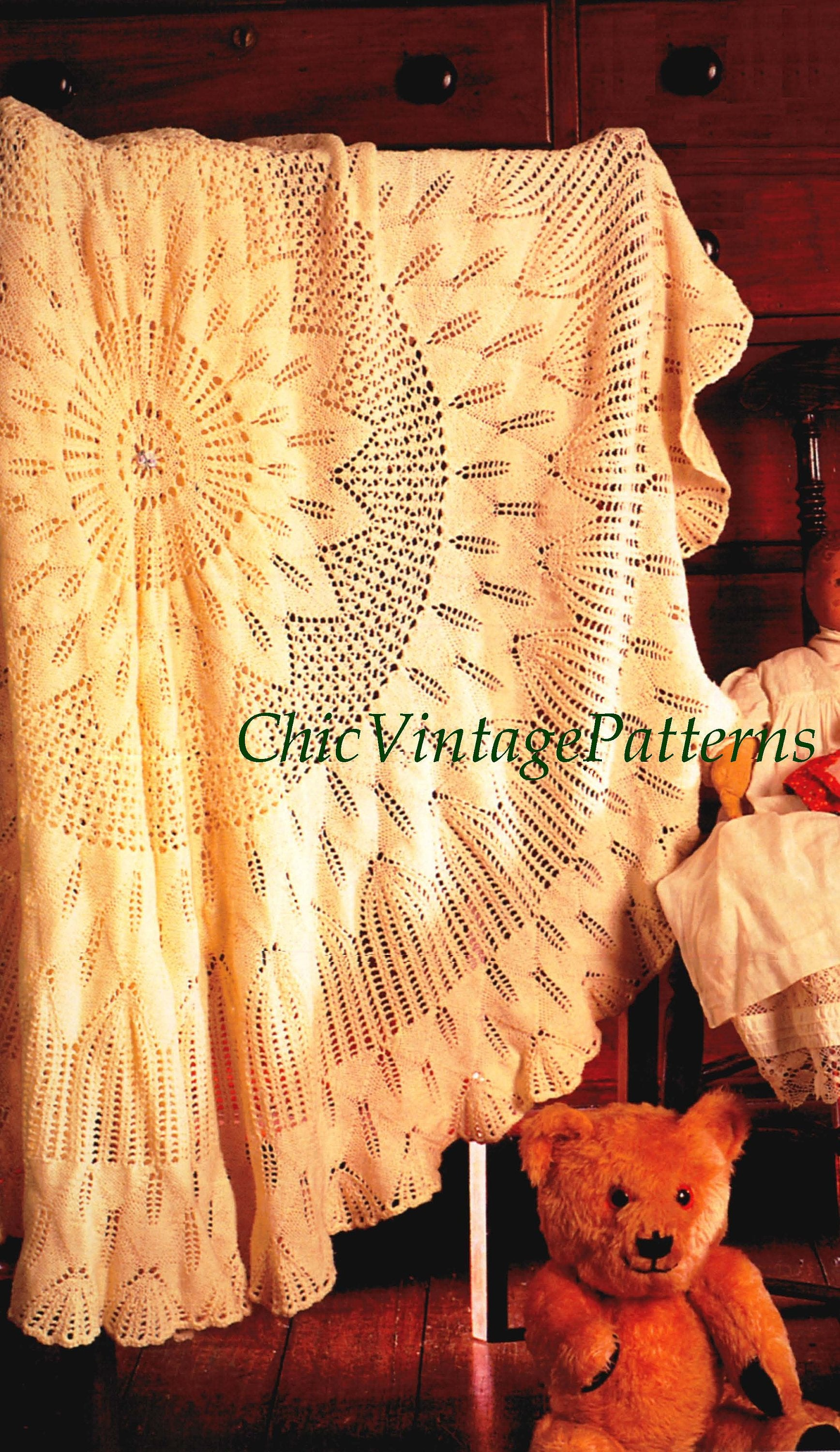 Babies Shawl Knitting Pattern, Circular Babies Wrap, Instant Download