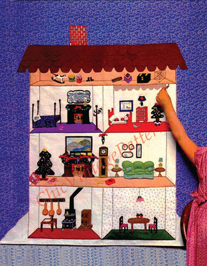 Vintage Doll's House Pattern, Hanging Doll's House, Instant Download