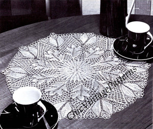 Knitted Lace Doily Digital Pattern, Vintage Table Centrepiece, Instant Download