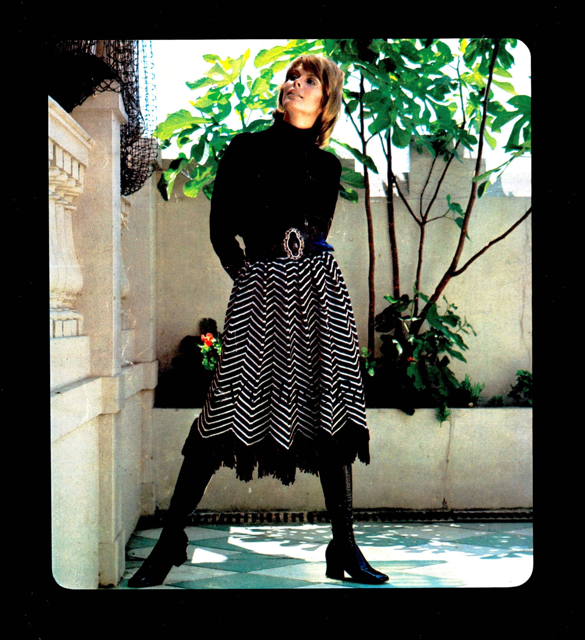 Ladies Knitted Skirt Pattern, Fringed Skirt, Instant Download