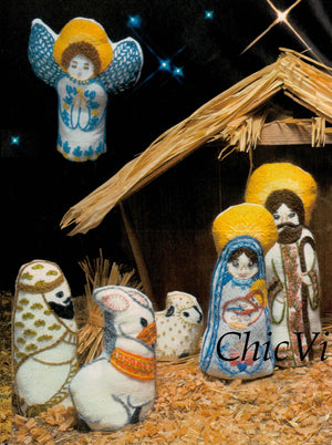 Christmas Nativity Pattern, PDF Embroidery Pattern, Christmas Decoration