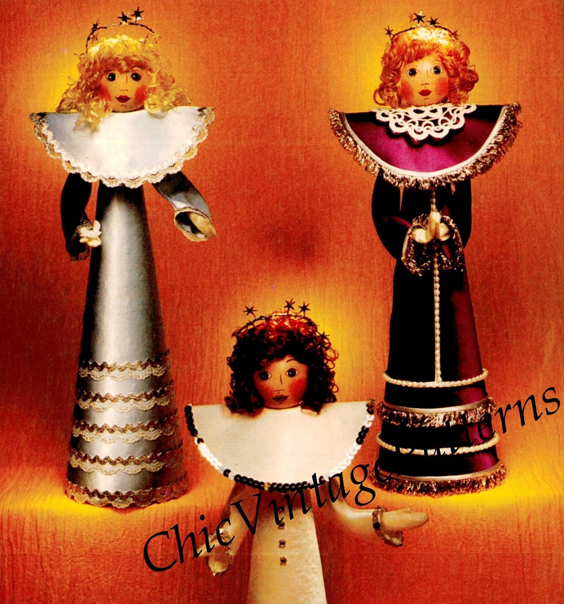 Christmas Angel Pattern, Cone Angels, Instant Download