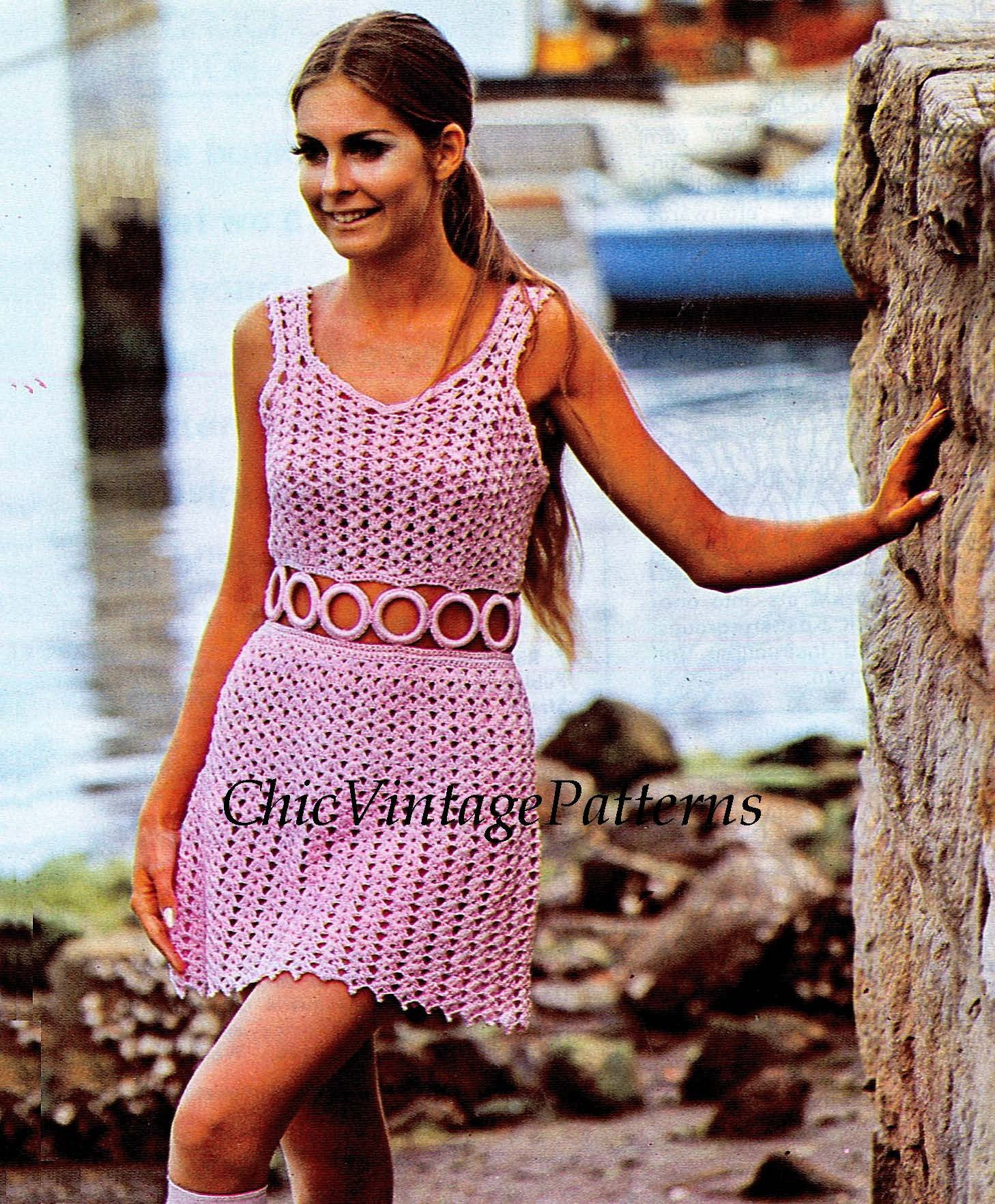 Instant Download Crochet Dress Pattern Ladies Summer Dress Digital