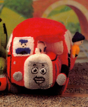 Bertie The Bus Toy Knitting Pattern, Bertie Soft Toy, PDF Knitting Pattern