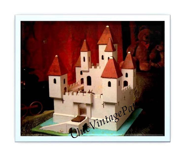 Vintage Castle with Moat Pattern, Woodworking Pattern, Instant Download