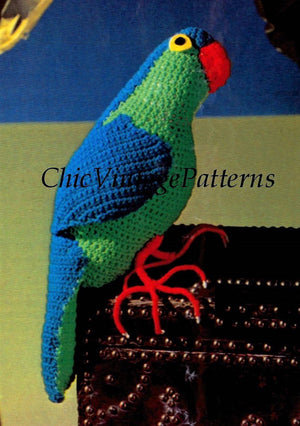 Crochet Parrot Pattern, Toy Parrot, Instant Download