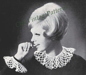 Collars and Cuffs to Crochet, 11 Patterns, Instant Download