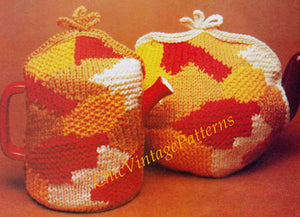 Knitted Teapot and Coffee Pot Cosies, Instant Download Pattern
