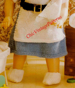 Knitted Dolls Nurses Uniform Pattern, Instant Download