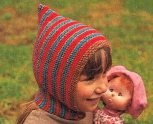 Easy Child's Balaclava Knitting Pattern, 1970's, Warm Helmet Hat, PDF Knitting Pattern