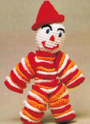 Crochet Clown Doll Pattern, Digital Pattern