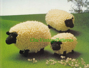 Crochet Sheep Family Pattern, Farm Animals, Instant Download