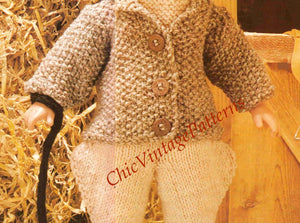 Dolls Clothes, Horse Riding Outfit Pattern,  Instant Download