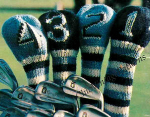 Knitted Golf Club Covers, Instant Download Pattern, Super Gift for a Golfer